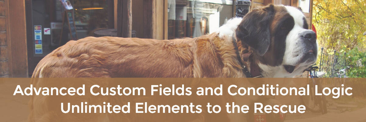 advanced custom fields and conditional logic - unlimited elements to the rescue