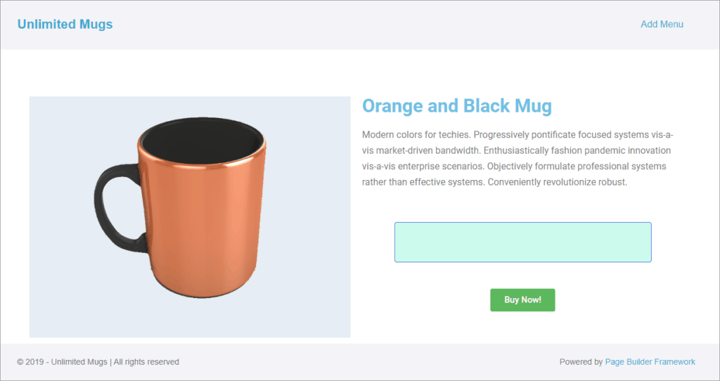 product with no message shows empty banner