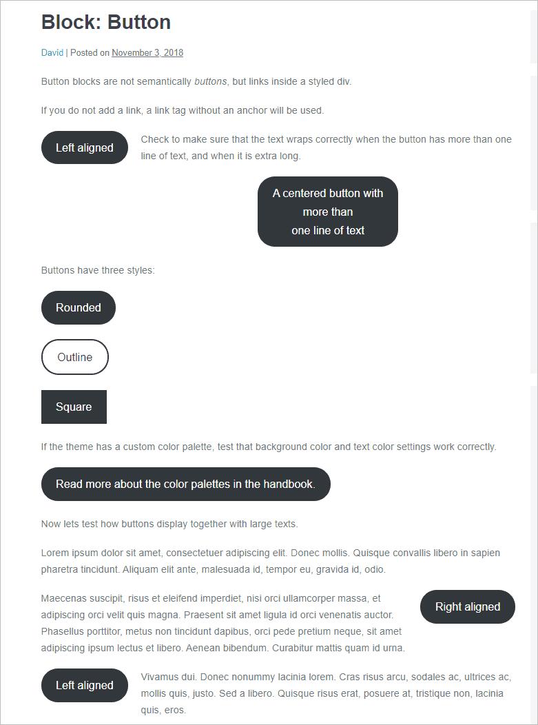 button block test