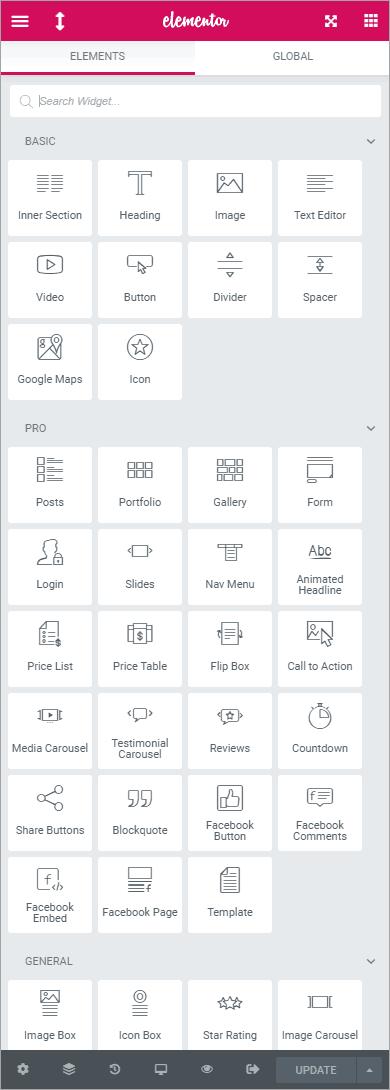 flexible elementor panel flexible grid