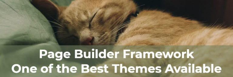 page builder framework one of the best themes available
