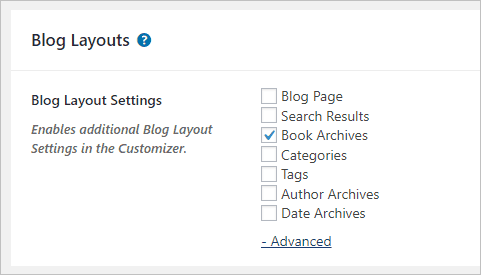 page builder framework separate archive options