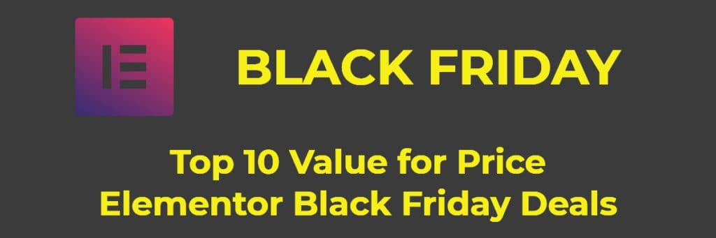 elementor black friday deals