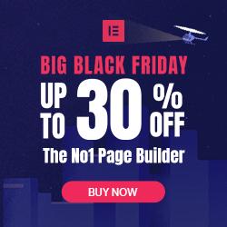 elementor pro black friday sale