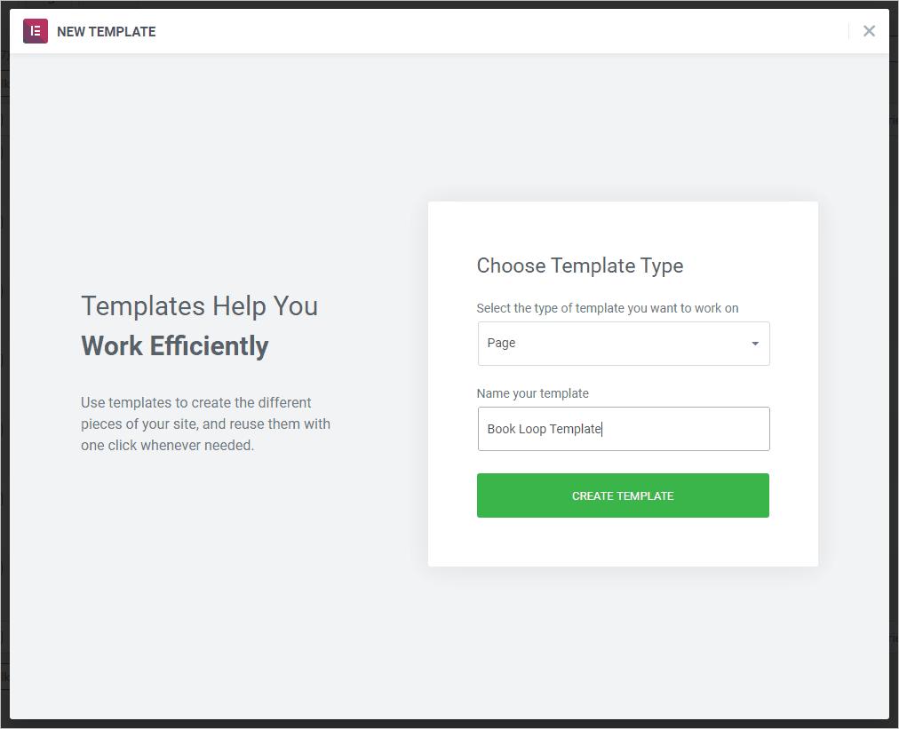 create loop template