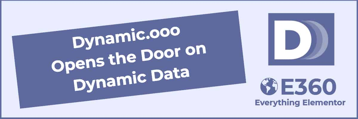 dynamic.ooo opens the door on dynamic data