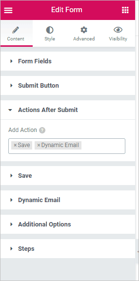 Add The Save Action To The Form