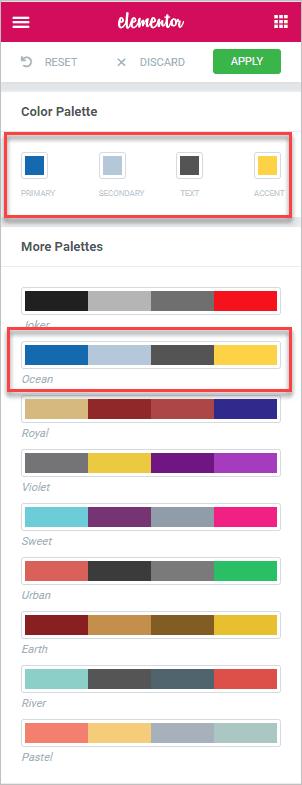 Styles Pick Color Palette