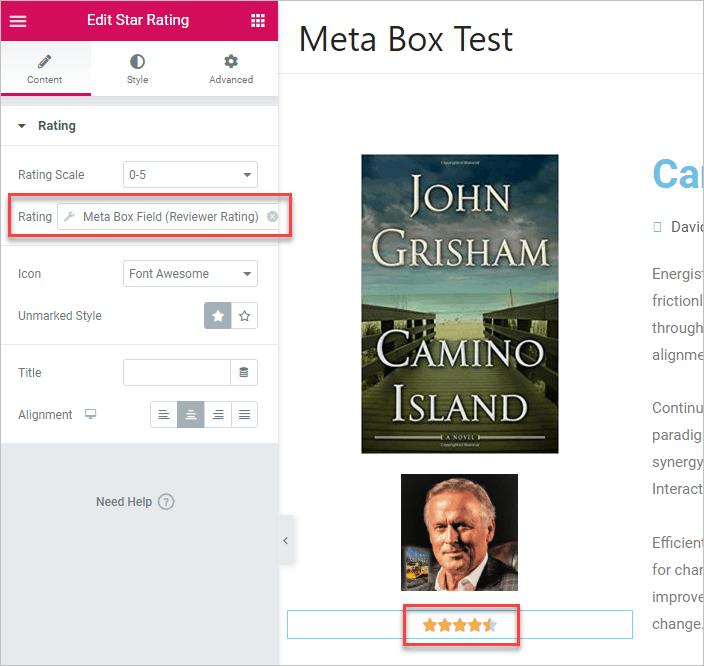 Meeta Box Reviewer Rating Field Selelcted