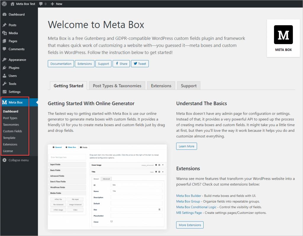 Meta Box Aio Default Menu
