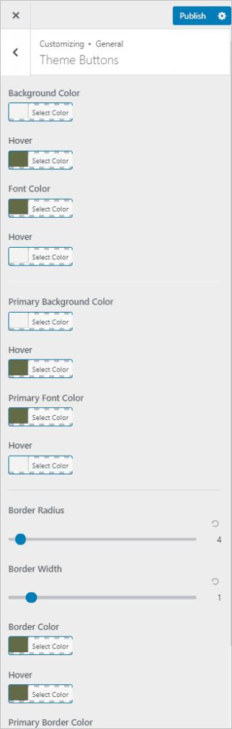 Customizer Buttons