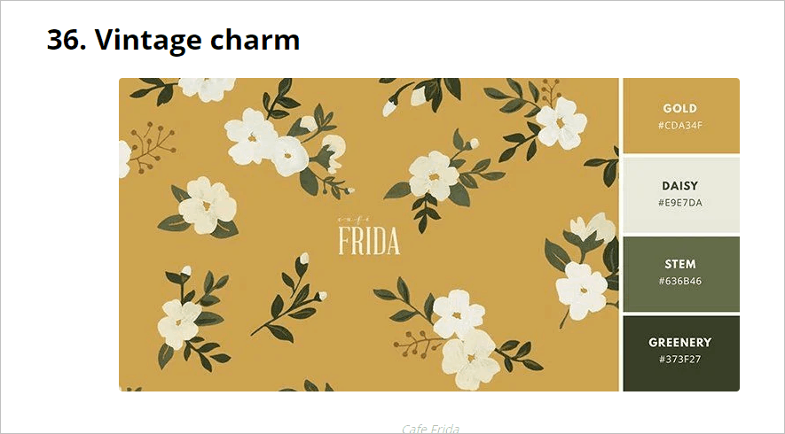 Vintage Charm Color Palette From Canva