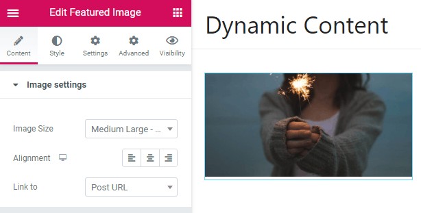 Dce Featured Image Widget