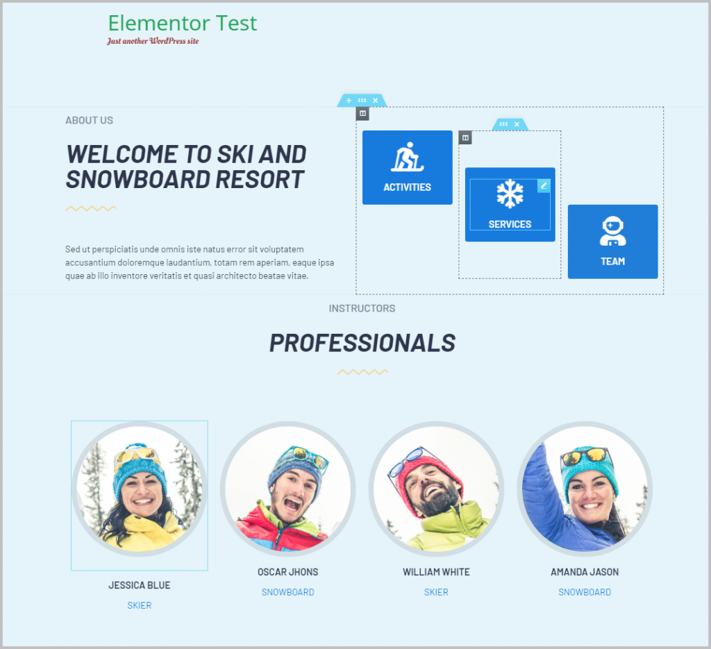 Example Template From Elementor Free