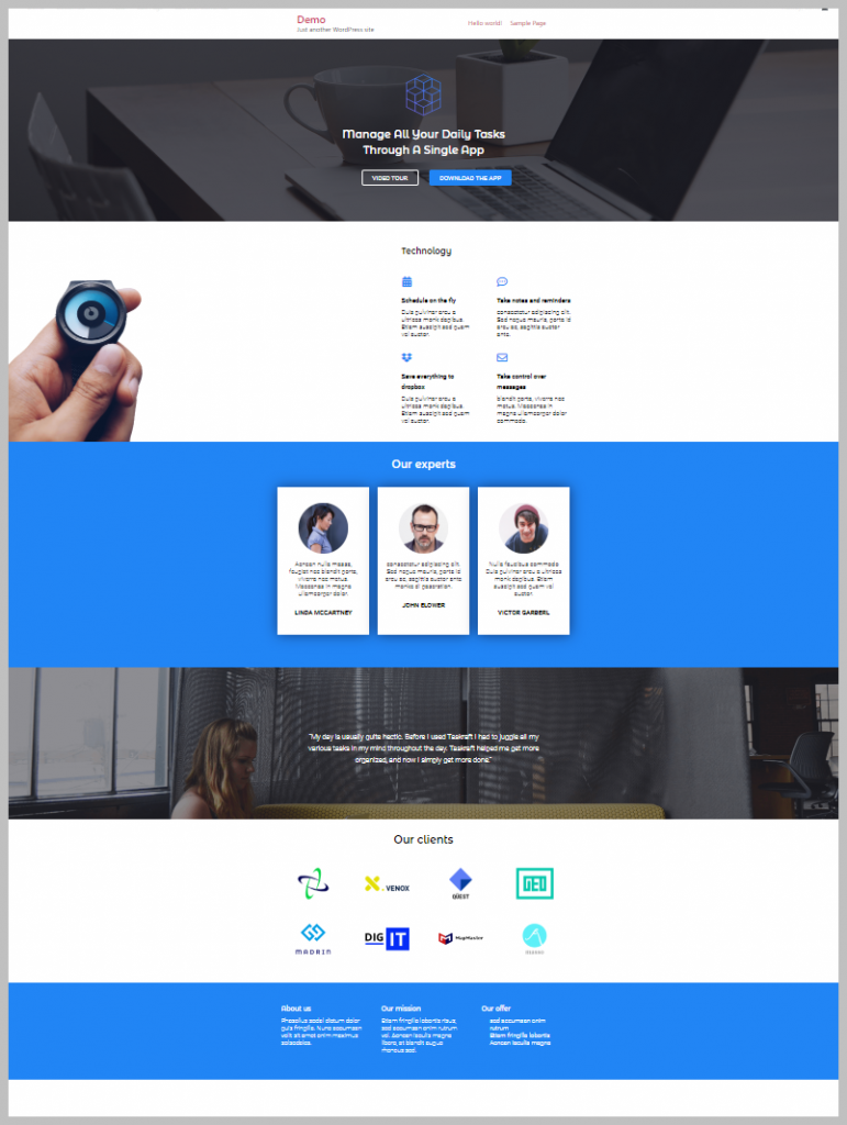 Page Created From Elementor Template