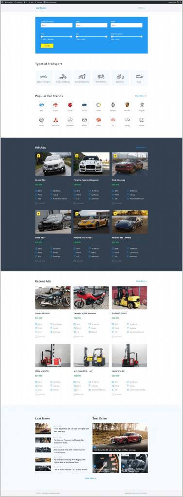 Car Dealer Home Page 1