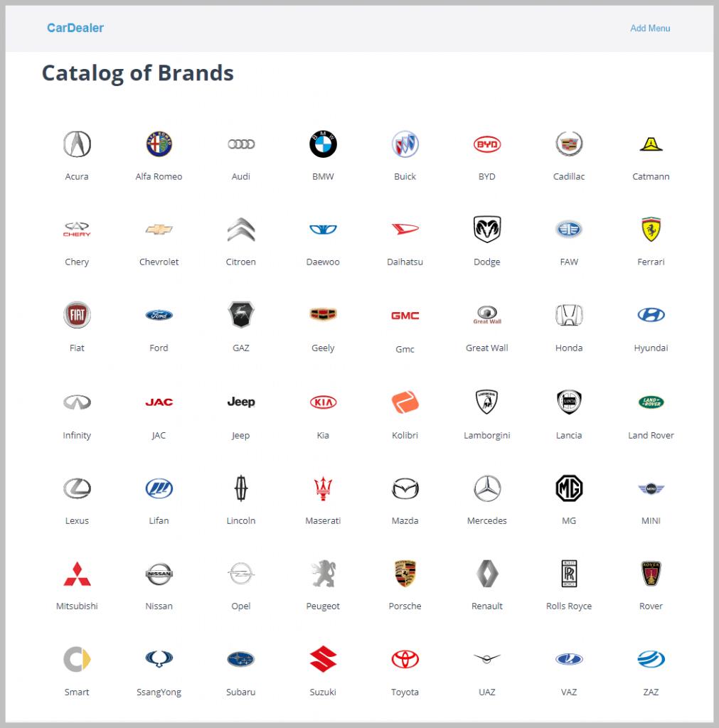 Catalog Of Brands
