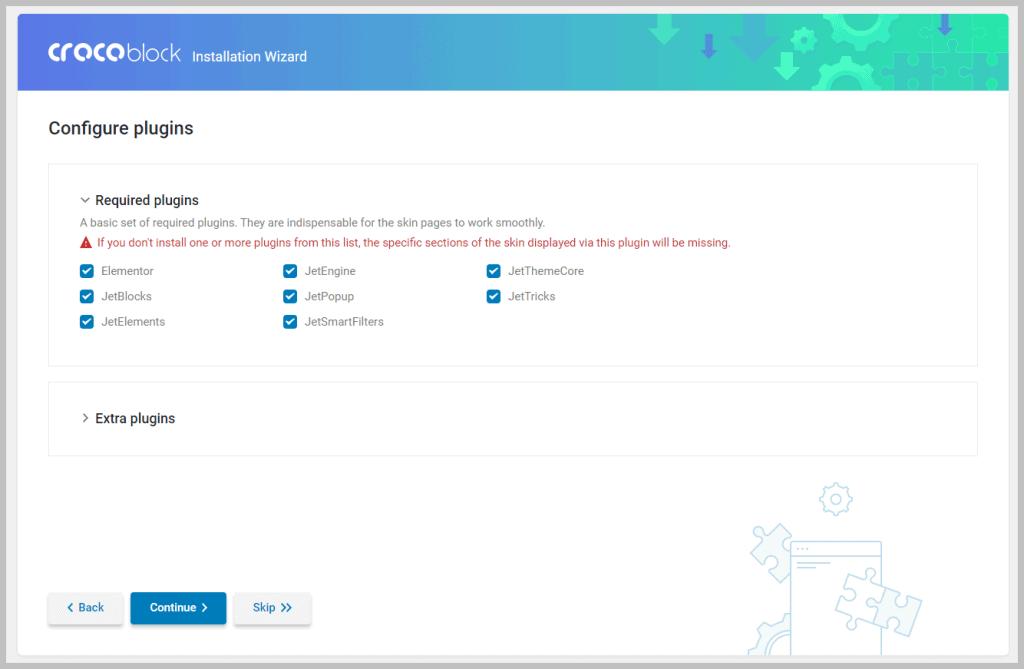 Crocoblock Configure Plugins