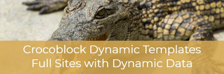 Crocoblock Dynamic Templates