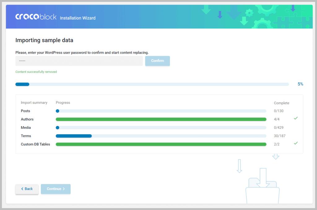 Crocoblock Import Sample Data
