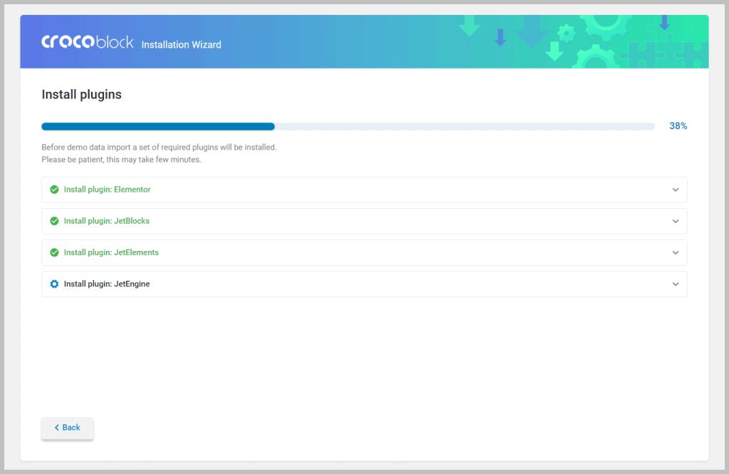 Crocoblock Installing Plugins