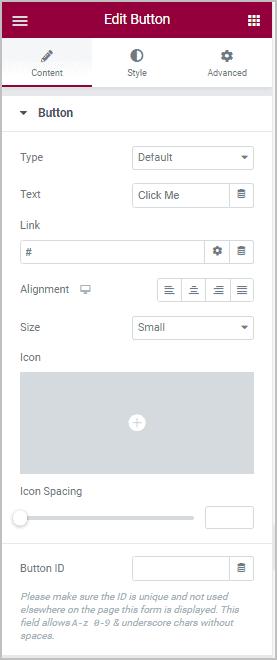 Button Content Panel