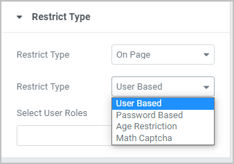 Restriction Types