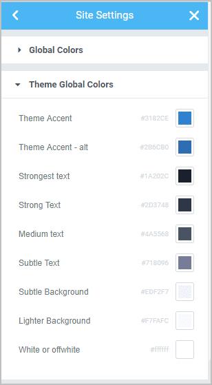Kadence Theme Colors In Elementor