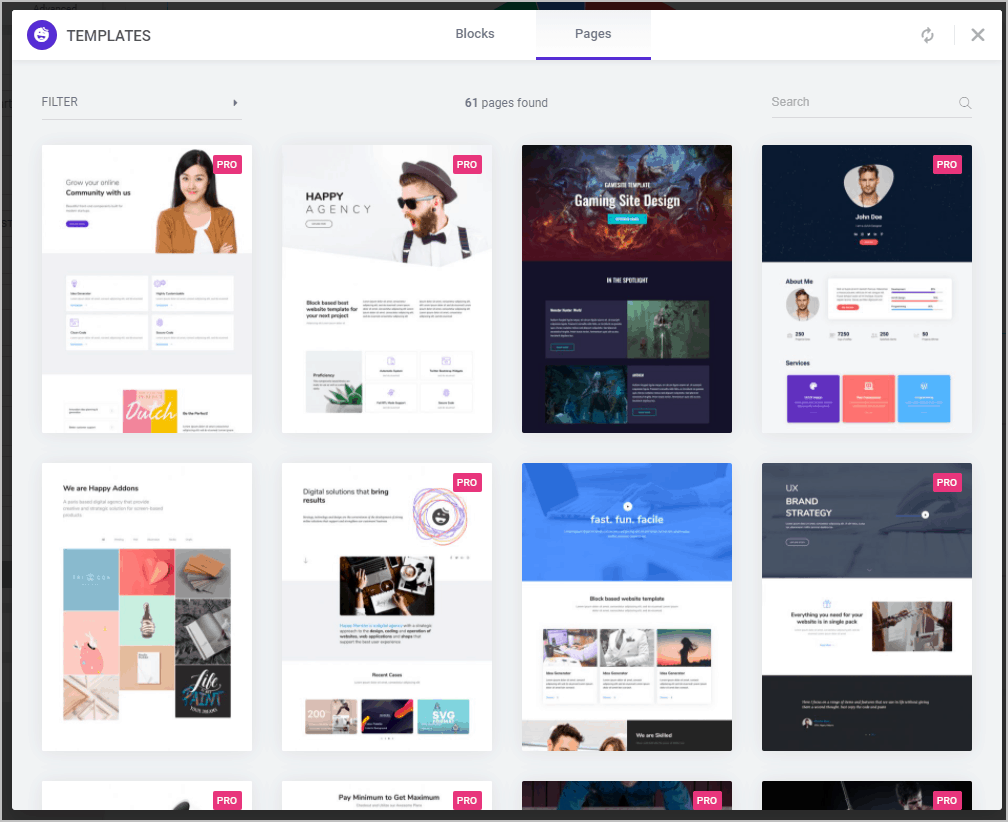 61 Predesigned Pages