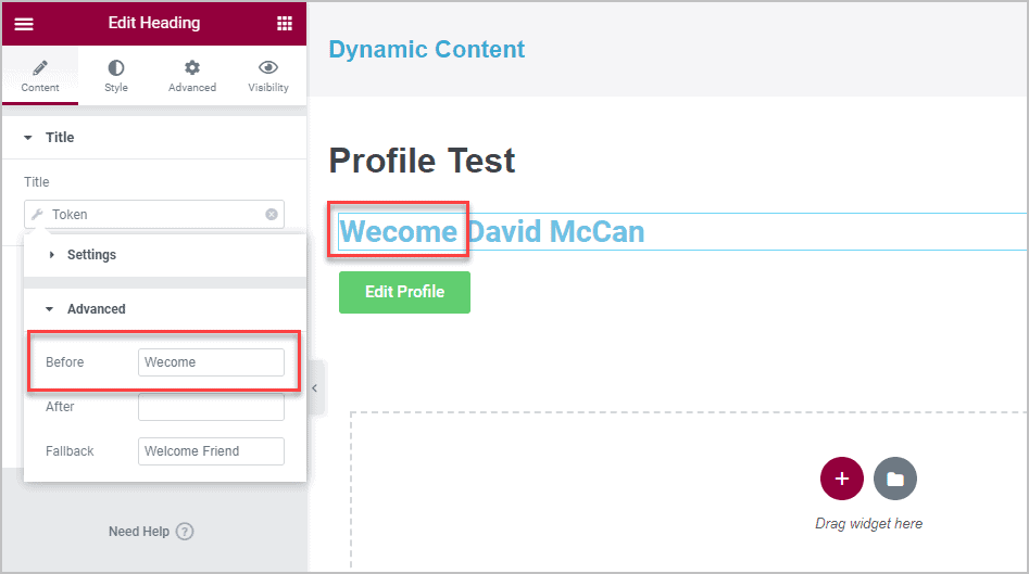 Adding Welcome Text To Heading