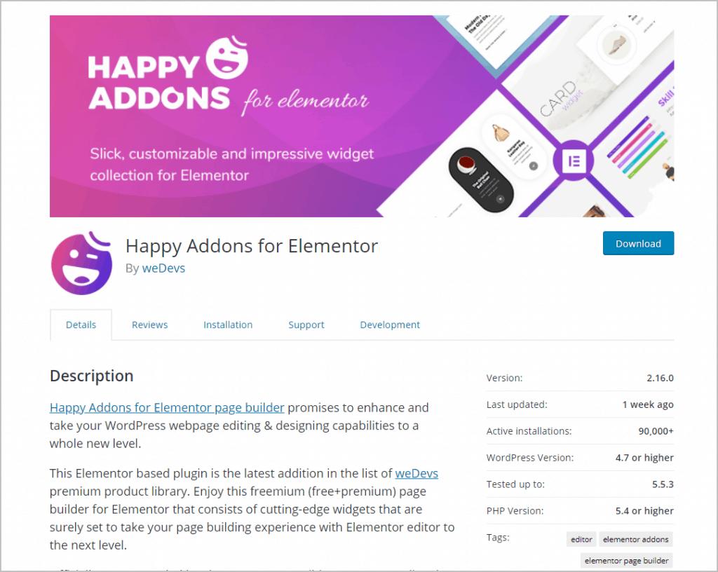 Happy Addons WordPress Org