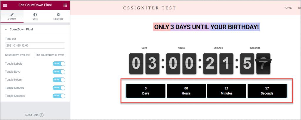 Countdown Plus