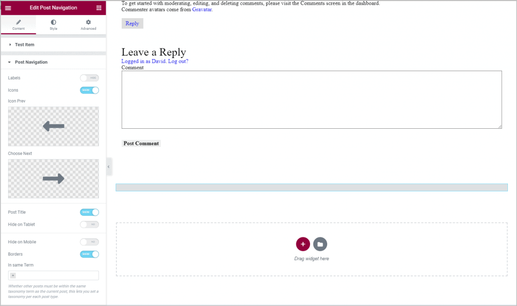 comment widget added