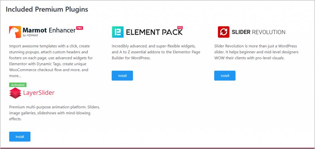 install emelement pack pro