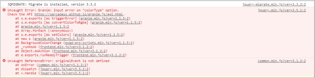 java script error