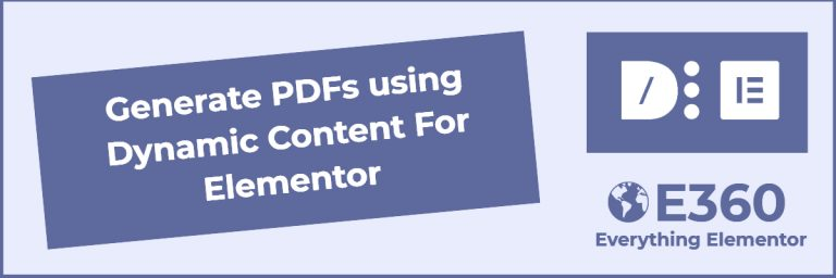generating pdfs using dynamic content for elementor