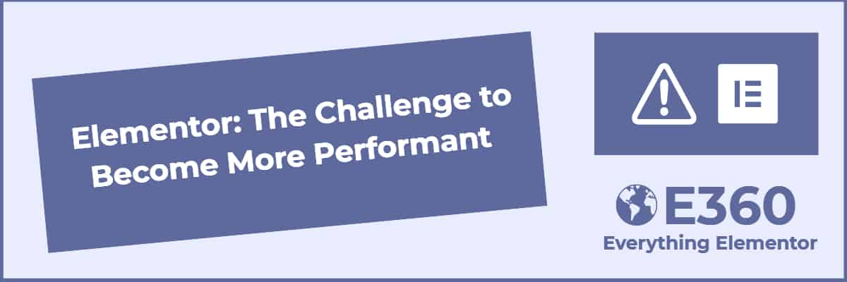 elementor challenge to become more performant