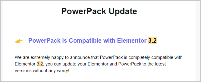 power pack 3 2 notice