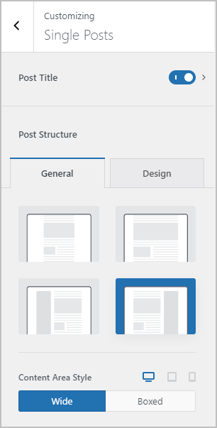 single post layout with sidebar