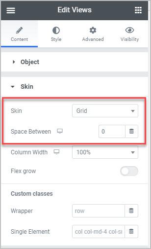views skin choice