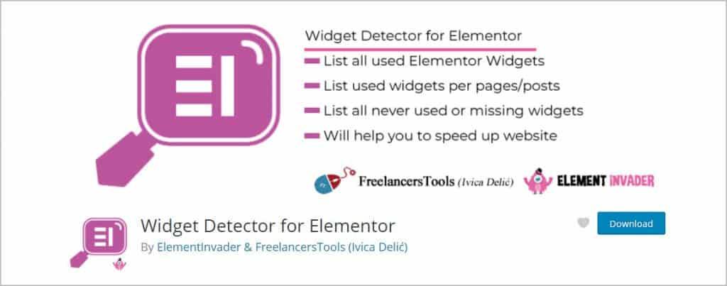 widget detector on wordpress org