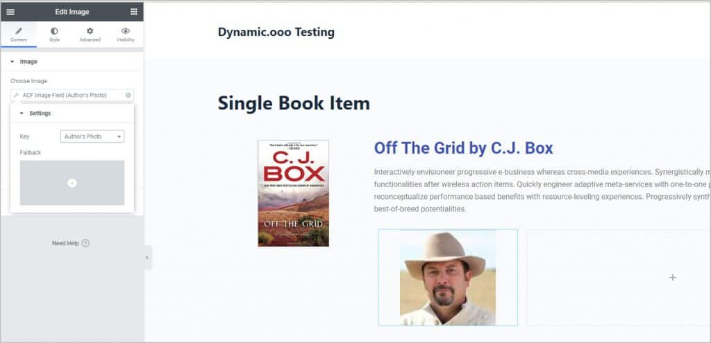 add authors photo on left
