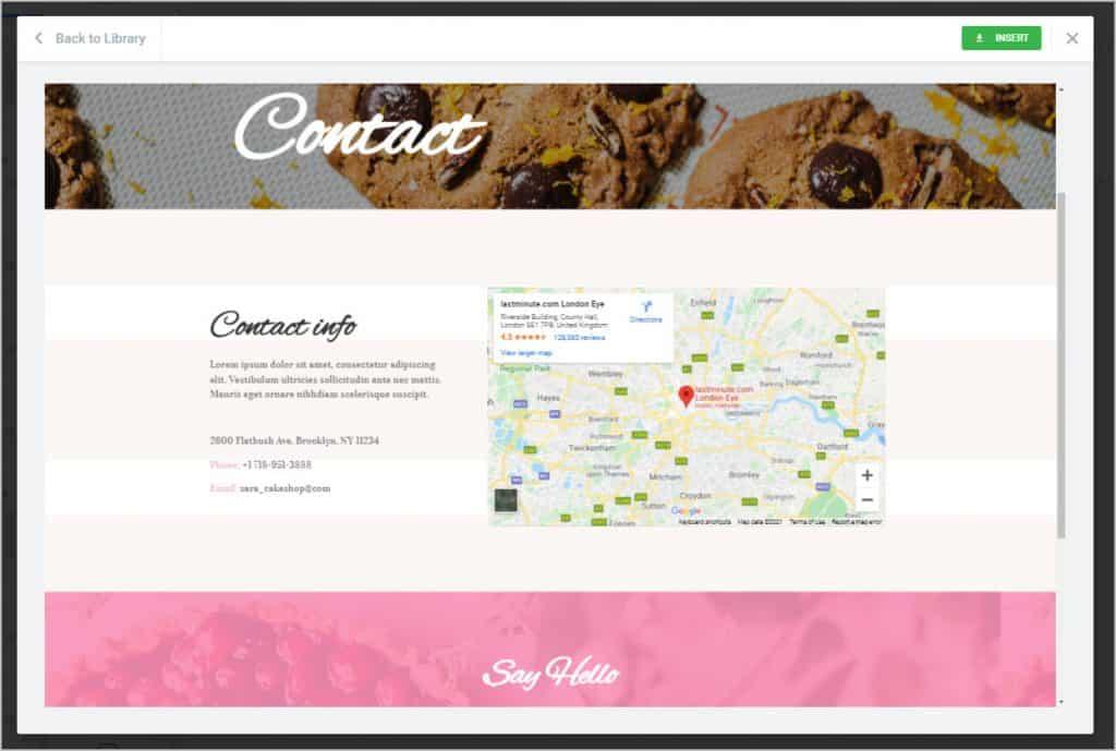 cake shop demo page