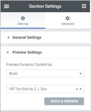 page settings for books