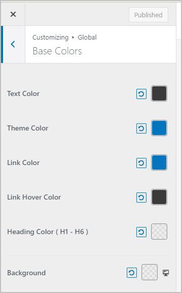 default astra color palette